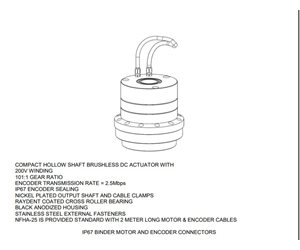 ACTUATOR;ROT;HARMONIC DRIVE;200V;101:1, #A-23767-1 Special